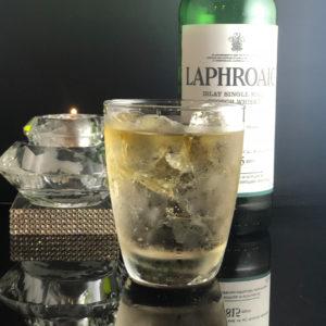 bar7557で人気のラフロイグ800円のお酒の写真です。