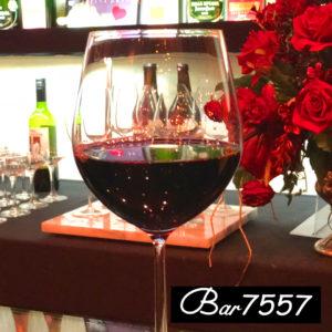 bar7557のニューにある赤ワインの写真です。