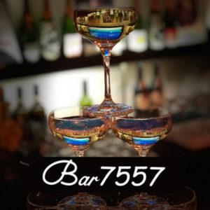 六本木7557ブログを始めました。bar7557の内観シャンパンタワーシャンパンタワーの写真です。